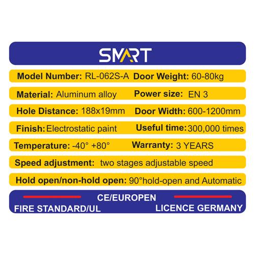 مشخصات جک ارام بند در وزن 65/80 مدل RL062SA